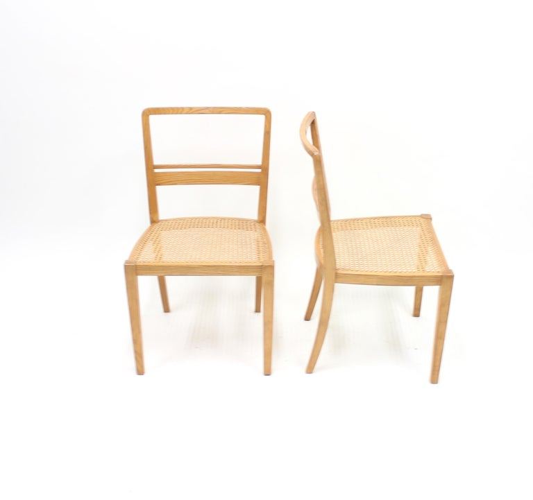 Mid-20th Century Erik Chambert, Very Rare Pair of Chairs, AB Chamberts Möbelfabrik, 1937 For Sale