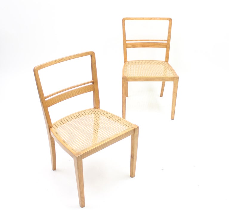Erik Chambert, Very Rare Pair of Chairs, AB Chamberts Möbelfabrik, 1937 For Sale 1