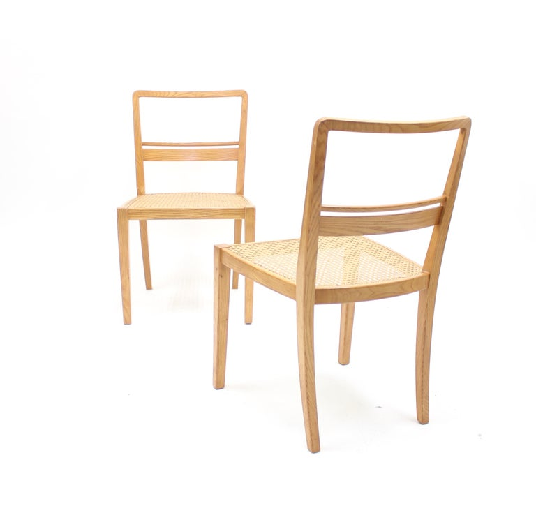 Erik Chambert, Very Rare Pair of Chairs, AB Chamberts Möbelfabrik, 1937 For Sale 2