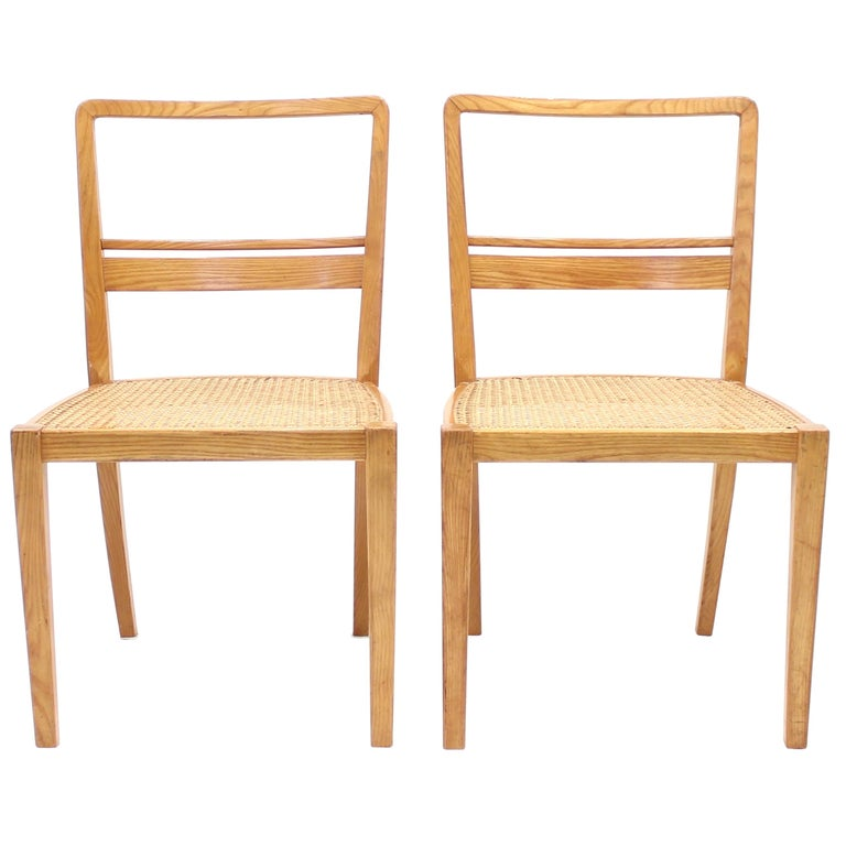 Erik Chambert, Very Rare Pair of Chairs, AB Chamberts Möbelfabrik, 1937 For Sale