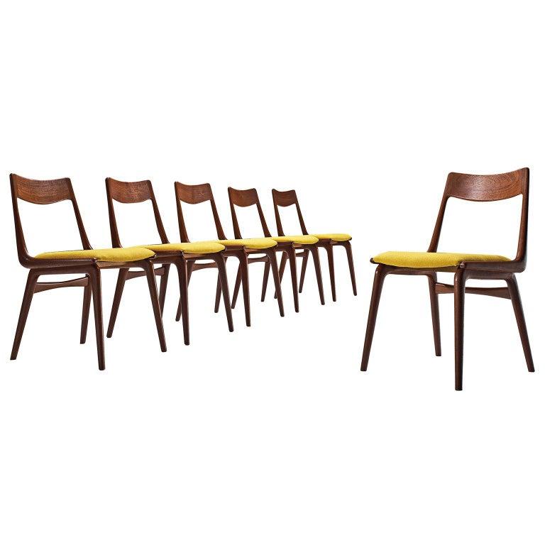 'Boomerang' Chairs in Teak by Alfred Christensen