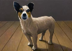 Dog Bill- 21st Century Contemporary Painting of a Jack Russell Dog