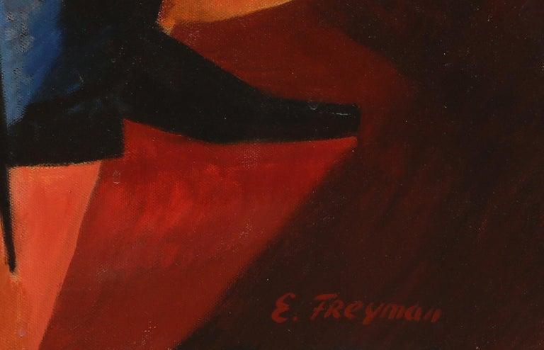 Duet #1, Large Art Deco Painting by Erik Freyman For Sale 2