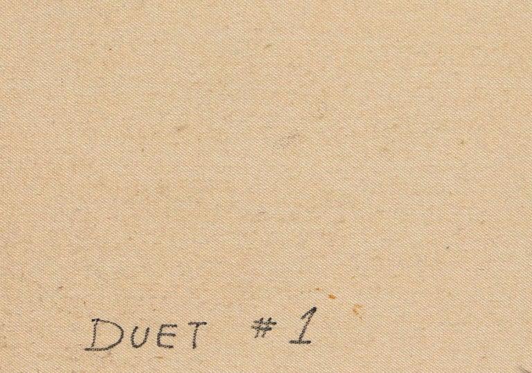 Duet #1, Large Art Deco Painting by Erik Freyman For Sale 3