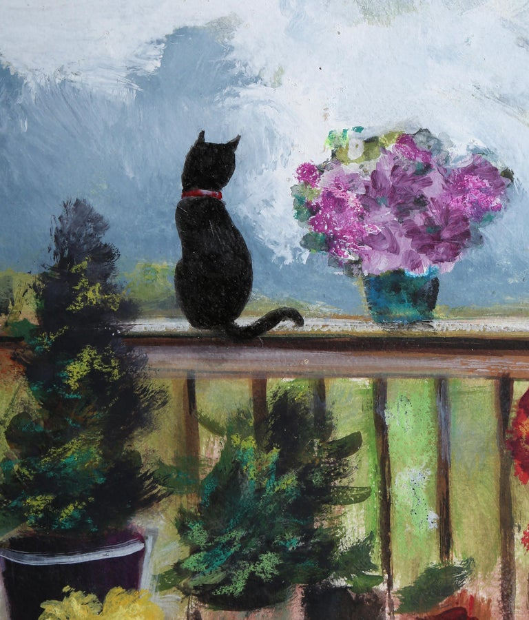 Summer on my Deck - Painting by Erik Freyman