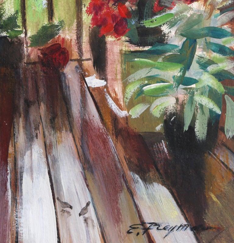 Summer on my Deck - American Impressionist Painting by Erik Freyman