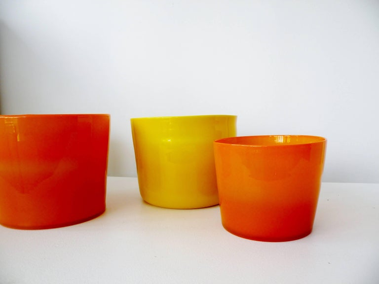 Scandinavian Modern Erik Hoglund for Boda Glass Collection of Four Glass Vessels For Sale