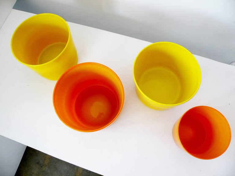 Swedish Erik Hoglund for Boda Glass Collection of Four Glass Vessels For Sale