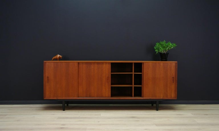 Erik Jensen Sideboard Teak Danish Design In Good Condition For Sale In Okunica, Zachodniopomorskie