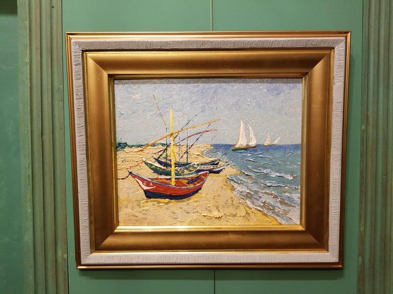 Beach Scene - Painting by Erik Johnsen