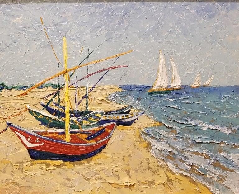 Erik Johnsen Landscape Painting - Beach Scene