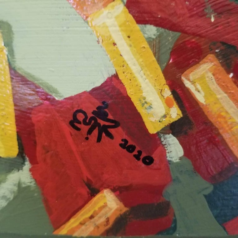 Cubes - Abstract Geometric Painting by Erik Johnsen