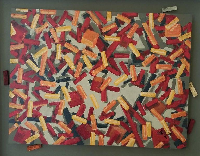 Erik Johnsen Abstract Painting - Cubes