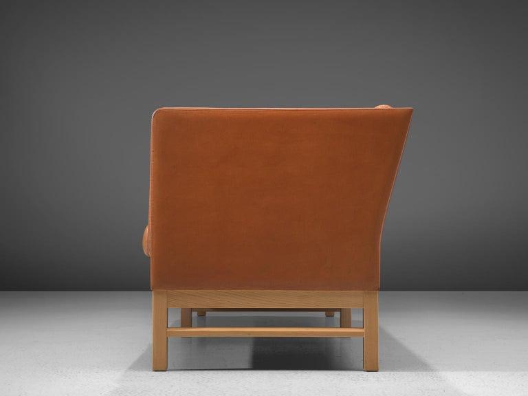 Late 20th Century Erik Jørgensen Original Cognac Leather Sofa For Sale