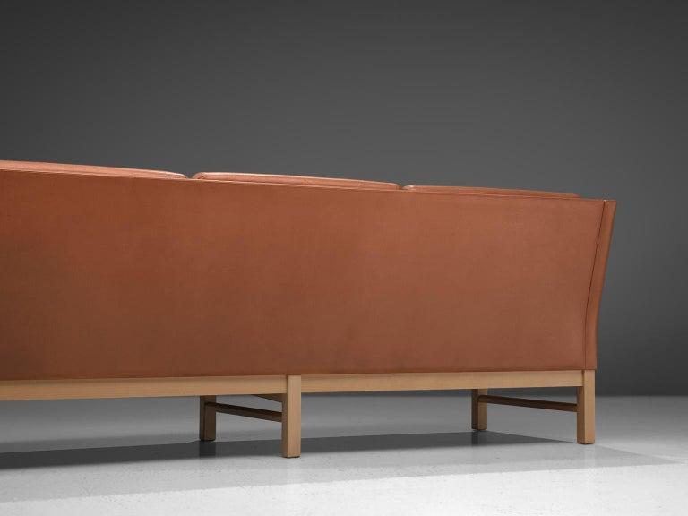 Erik Jørgensen Original Cognac Leather Sofa For Sale 1