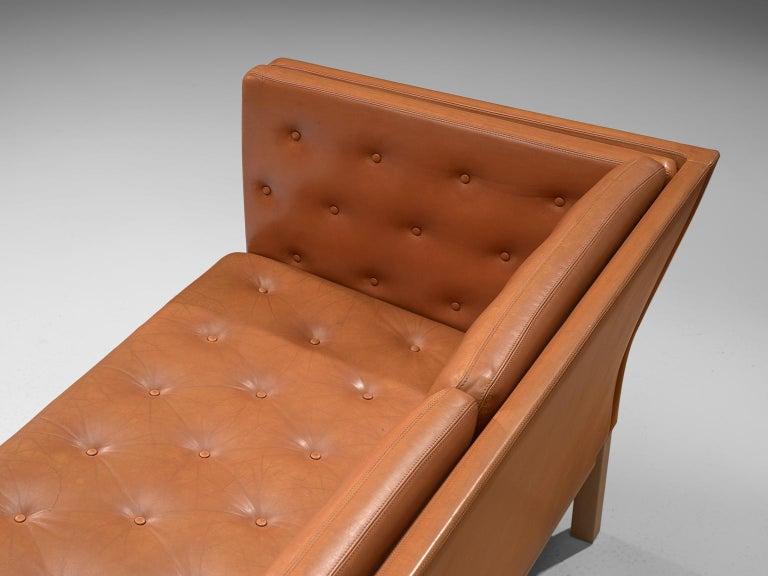 Erik Jørgensen Original Cognac Leather Sofa For Sale 2