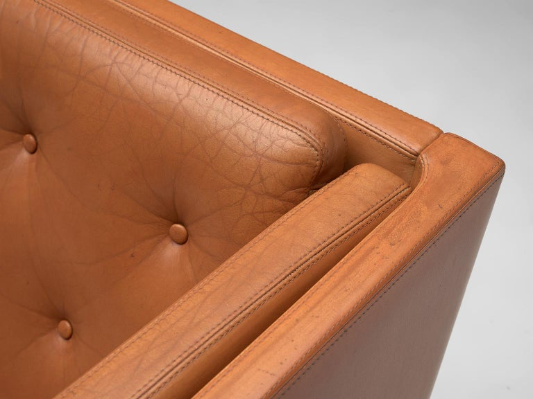 Erik Jørgensen Original Cognac Leather Sofa For Sale 3