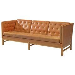 Erik J?rgensen Original Cognac Leather Sofa