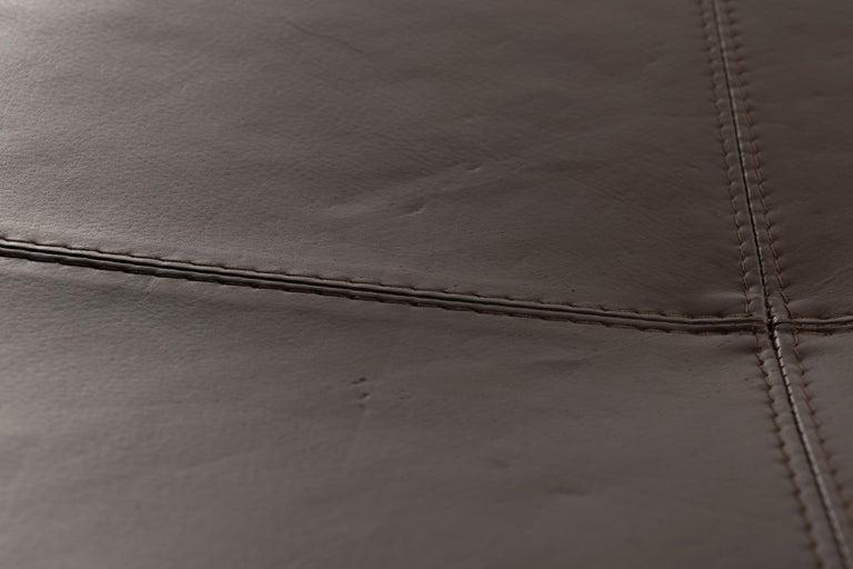 Erik Jørgensen Stools 'Model EJ 141' in Brown Leather and Chrome Frames, Denmark For Sale 2