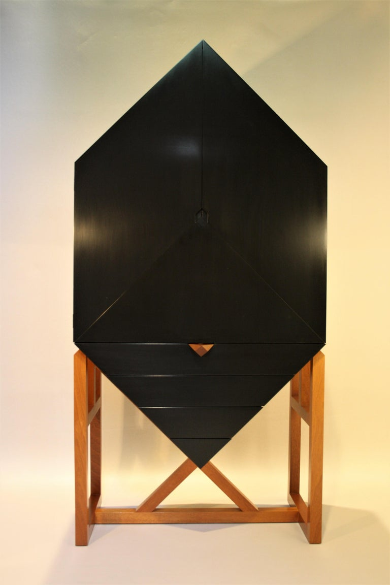 Scandinavian Modern Erik Jørgensen Unique Sculptural Cabinet, 1982 For Sale