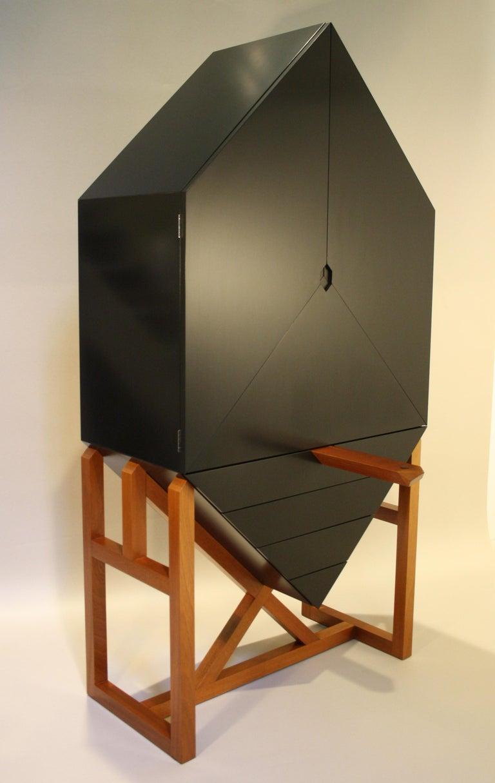 Danish Erik Jørgensen Unique Sculptural Cabinet, 1982 For Sale