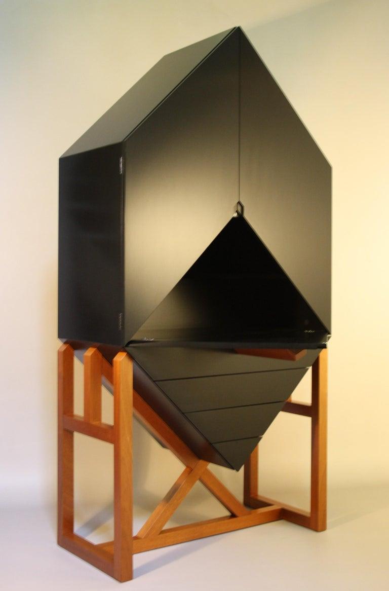 Lacquered Erik Jørgensen Unique Sculptural Cabinet, 1982 For Sale