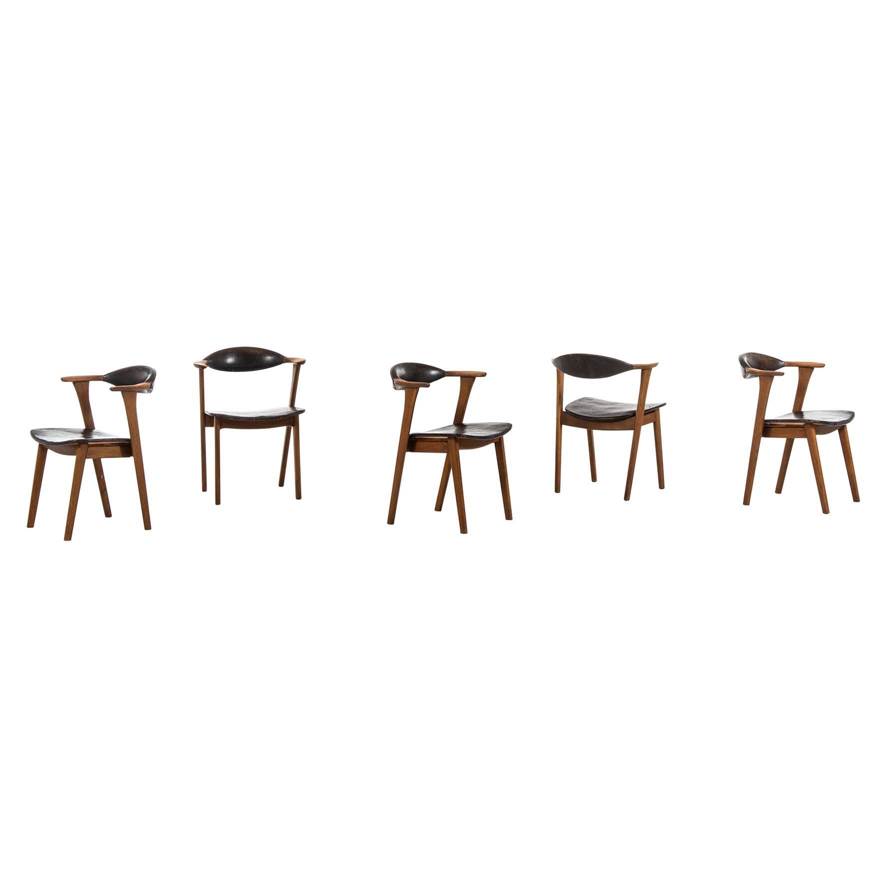 Erik Kirkegaard Armchairs / Dining Chairs B Høng Møbelfabrik in Denmark