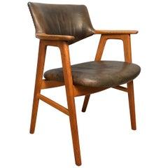 Erik Kirkegaard Oak Desk Chairs, 2 Available, Inc Reupholstery