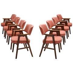 Erik Kirkegaard Reupholstered Armchairs in Rosewood