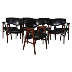 Erik Kirkegaard Set of Eight Armchairs