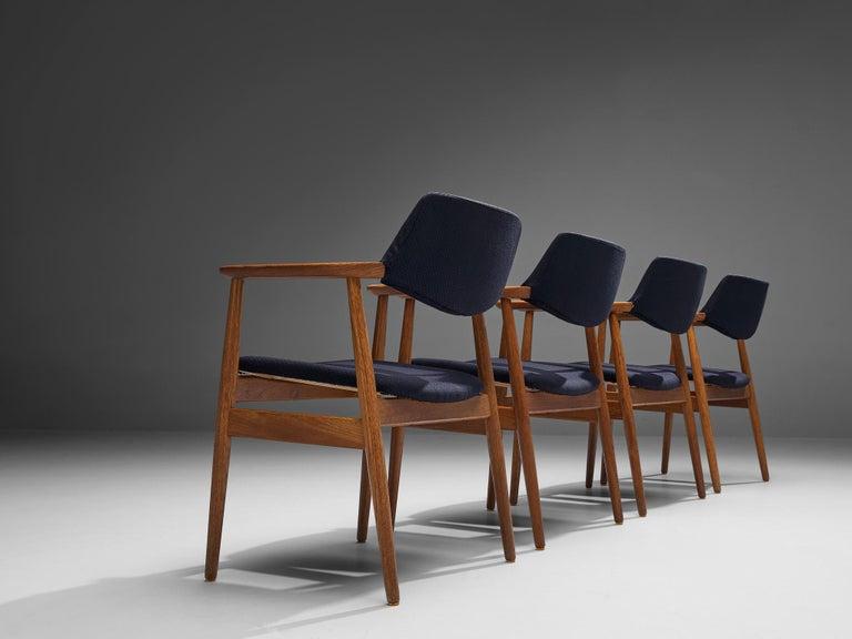 Erik Kirkegaard Set of Four Armchairs Model 53 in Teak For Sale 3