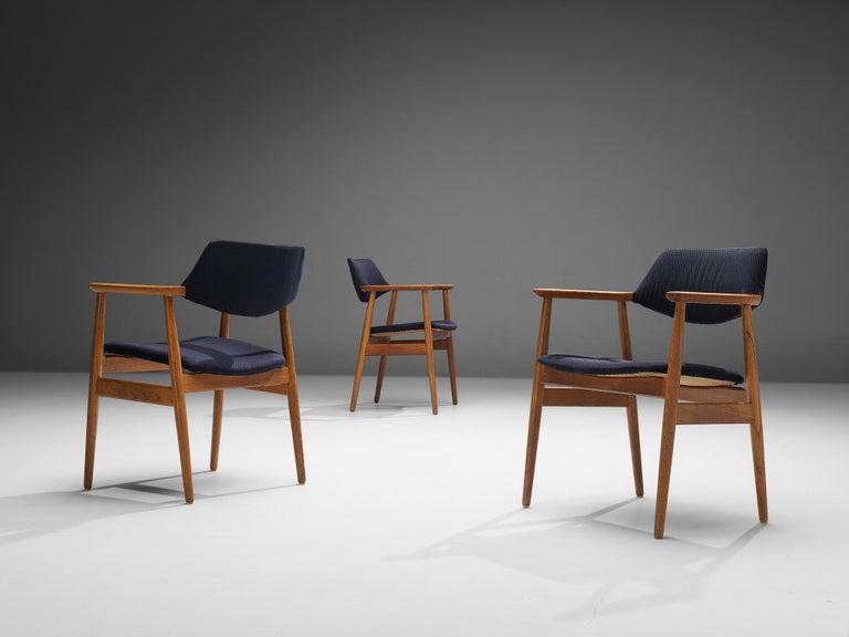 Danish Erik Kirkegaard Set of Four Armchairs Model 53 in Teak For Sale