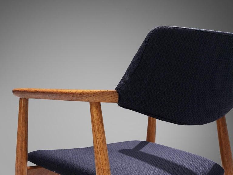 Fabric Erik Kirkegaard Set of Four Armchairs Model 53 in Teak For Sale