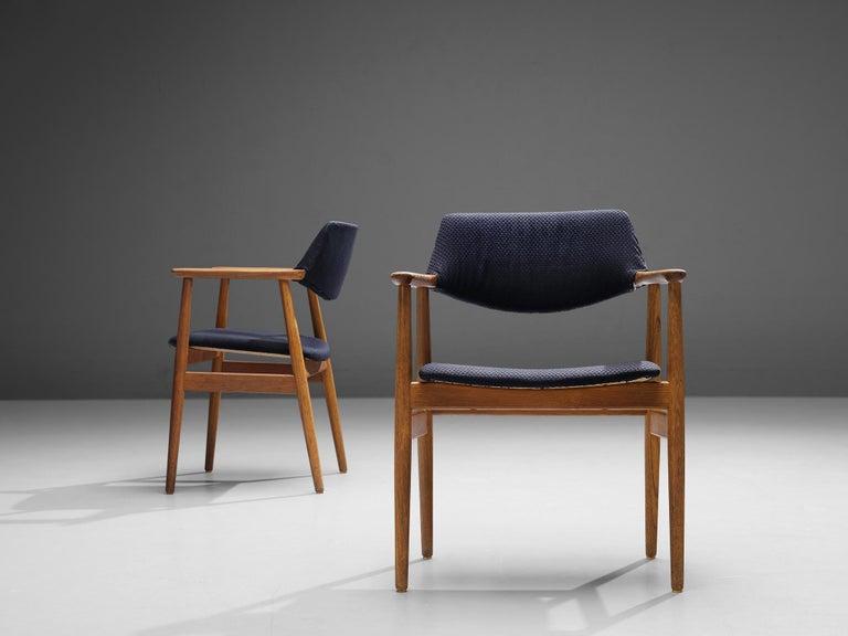 Erik Kirkegaard Set of Four Armchairs Model 53 in Teak For Sale 1