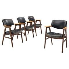 Erik Kirkegaard Set of Four Armchairs Model '53' in Teak