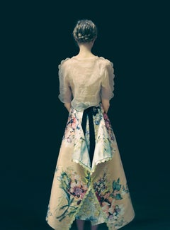 Milkmaid 1 from 'The Garden' – Erik Madigan Heck, Model, Fashion, Dress, Flowers
