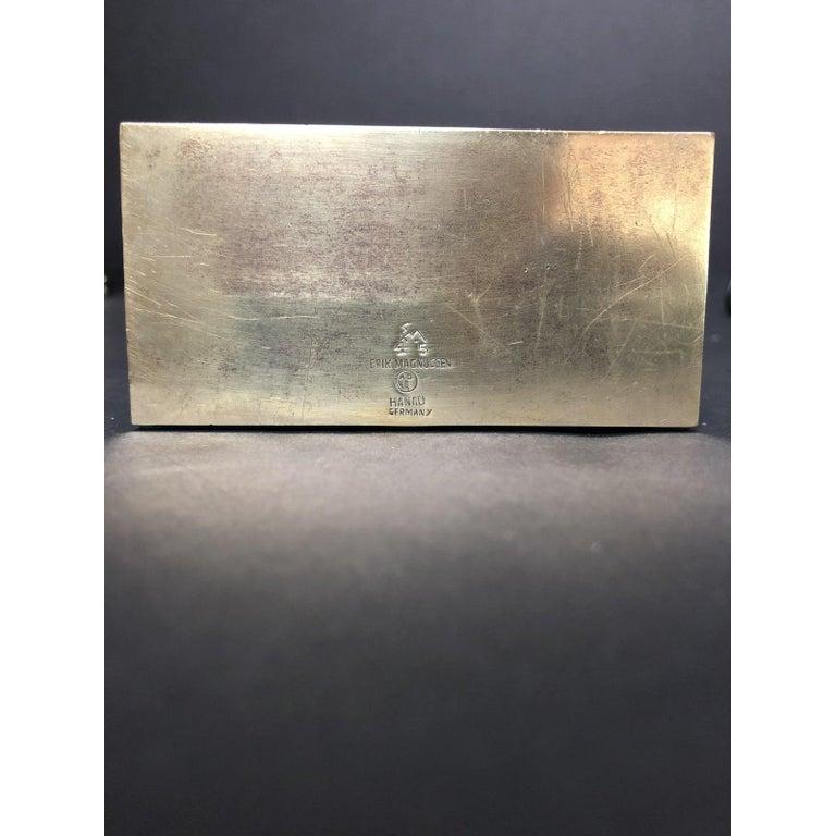 Erik Magnussen Sterling and Green Hardstone Desk Accessory For Sale 2