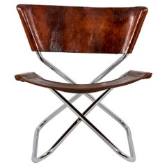 """Erik Magnussen, """"Z-Down"""" Chair in Metal and Leather, 1968"""
