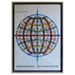 """Erik Nitsche """"General Atomic"""" Poster for General Dynamics, circa 1958"""