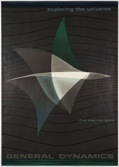 Erik Nitsche – Original Poster 1957 – General Dynamics – First Step Into Space