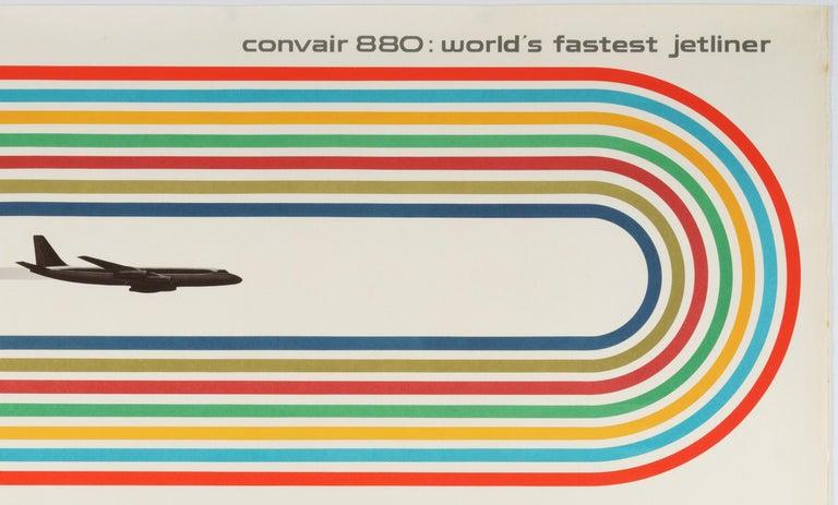 General Dynamics, Convair 880, World's Fastest Jetliner – Original Poster  - Print by Erik Nitsche