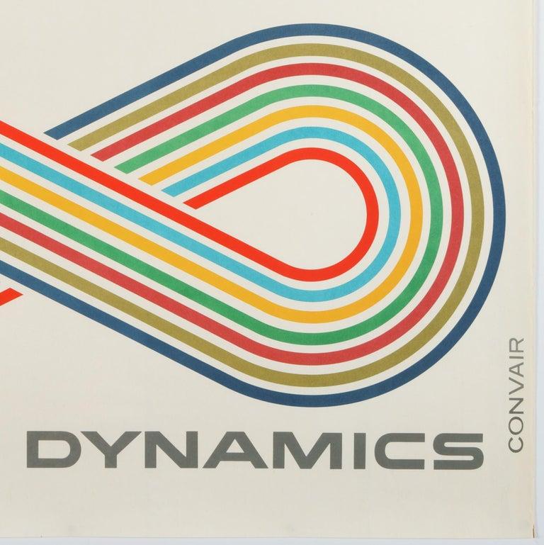General Dynamics, Convair 880, World's Fastest Jetliner – Original Poster  - Modern Print by Erik Nitsche