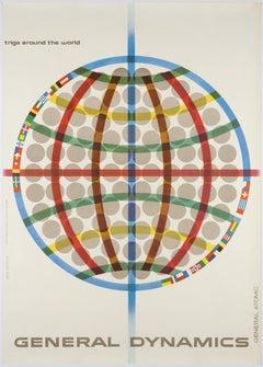 Erik Nitsche – Original Poster 1960 – General Dynamics – Atom Reactor Triga