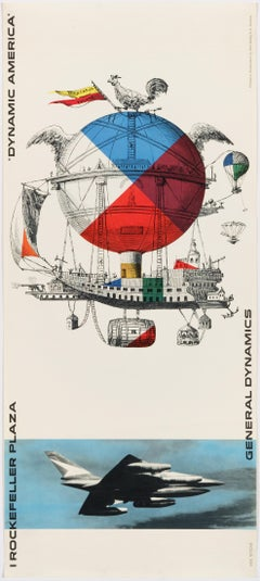 Erik Nitsche – Original Poster 1961 – General Dynamics Exhibit Rockefeller Plaza