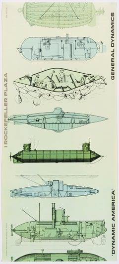 General Dynamics, Exhibition Dynamic America, New York – Original Vintage Poster