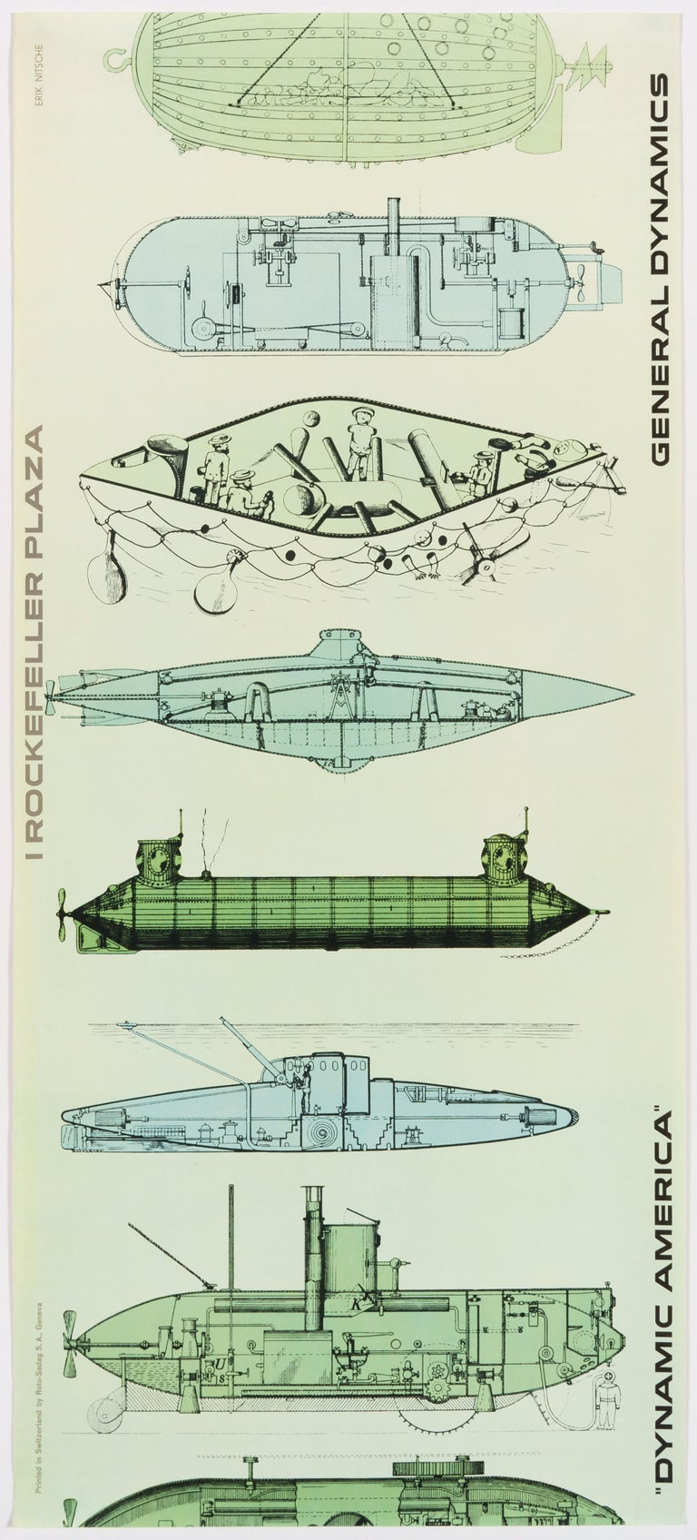 Erik Nitsche Print - General Dynamics, Exhibition Dynamic America, New York – Original Vintage Poster