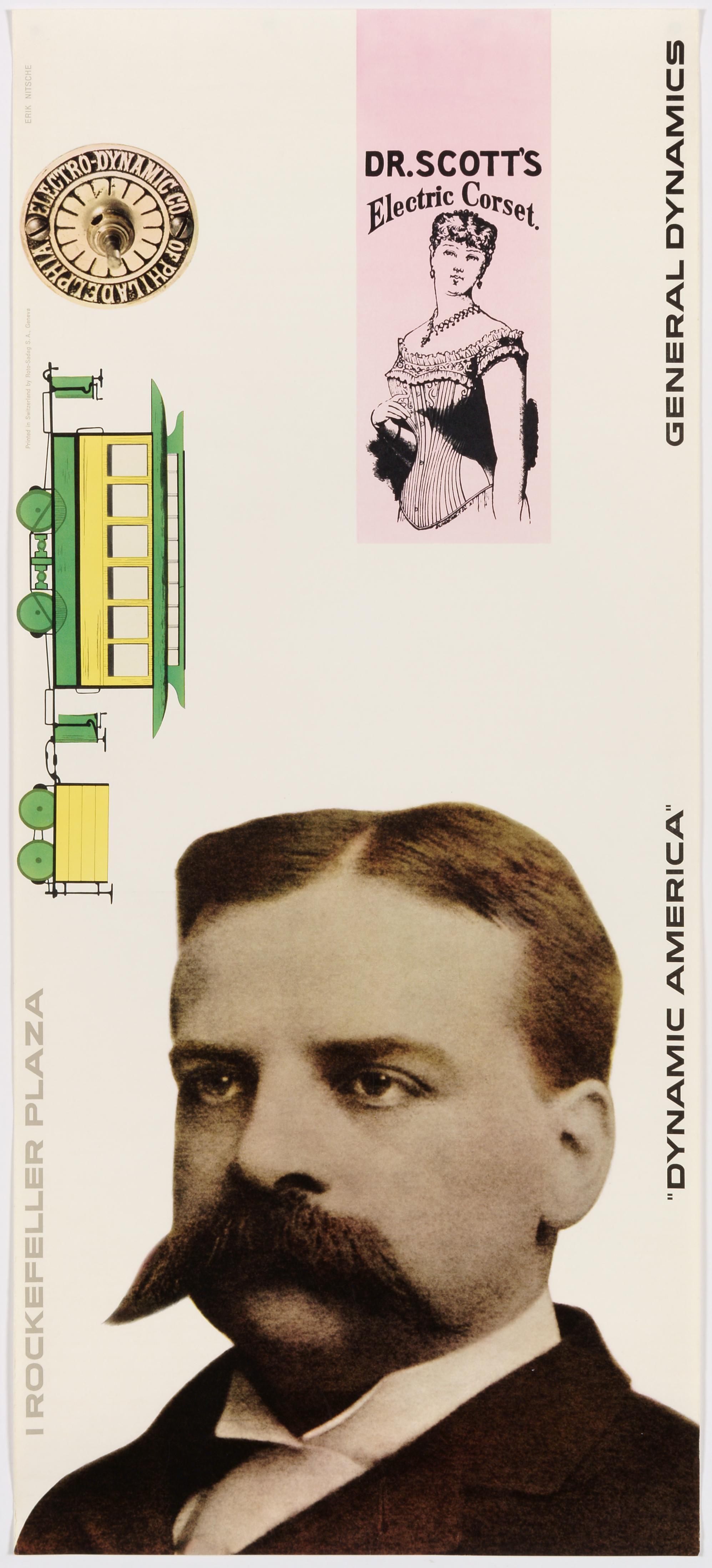 General Dynamics, Exhibition Dynamic America, New York; Original Vintage Poster