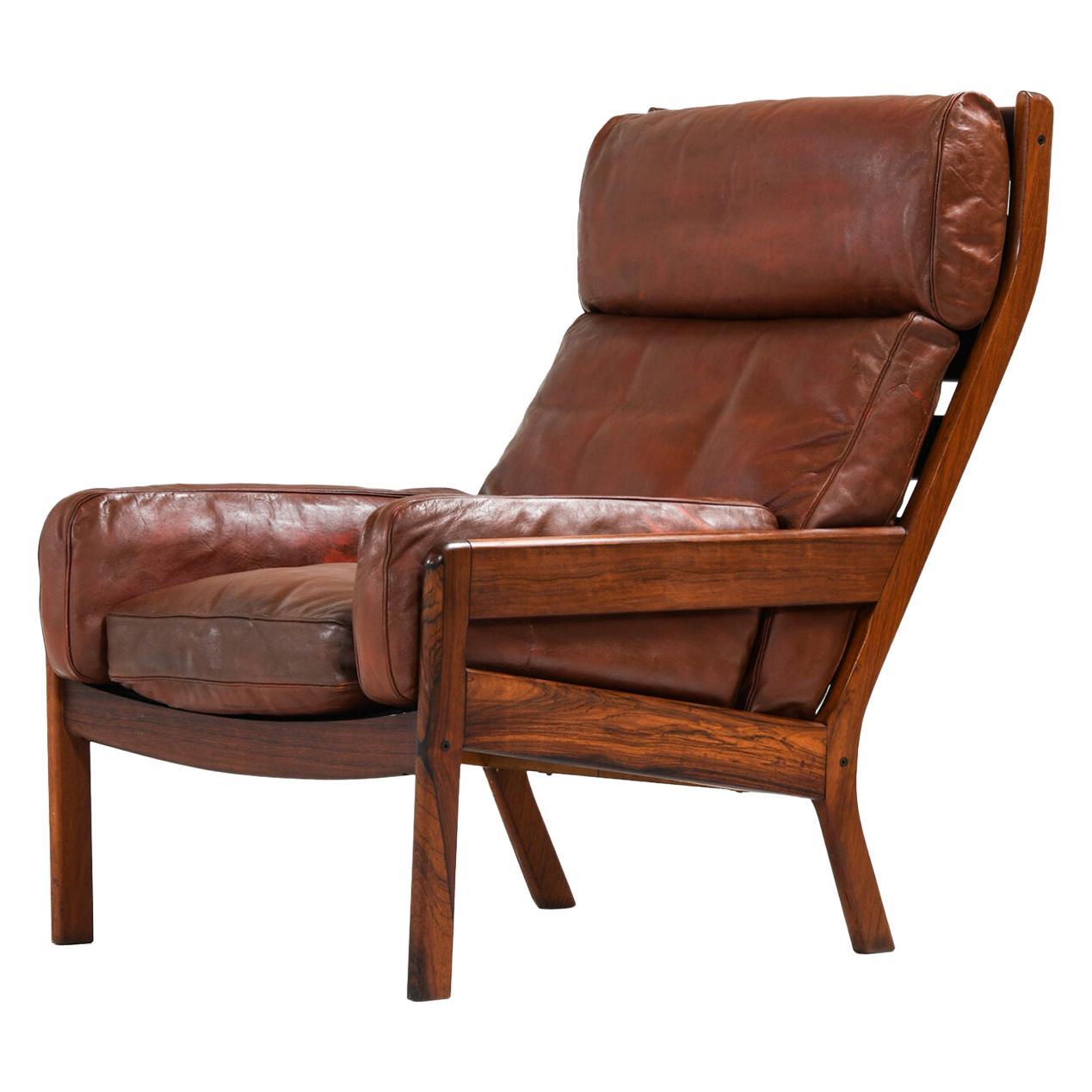Erik Ole Jørgensen Easy Chair Produced by Georg Jørgensen & Son in Denmark