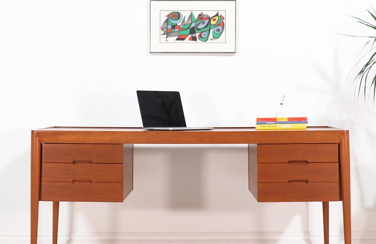 Erik Riisager Hansen Executive Teak Desk for Haslev Møbelsnedkeri For Sale 10