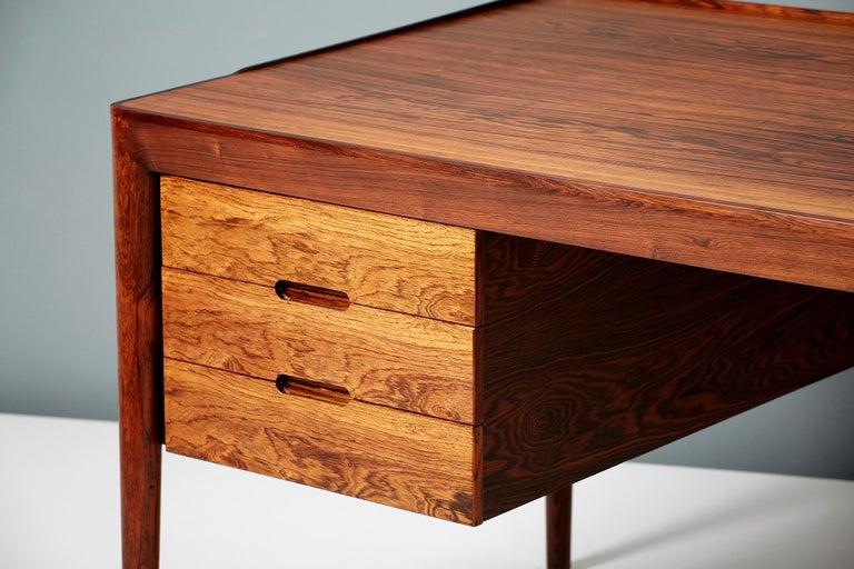Erik Riisager Hansen Rosewood Writing Desk, circa 1950s For Sale 1